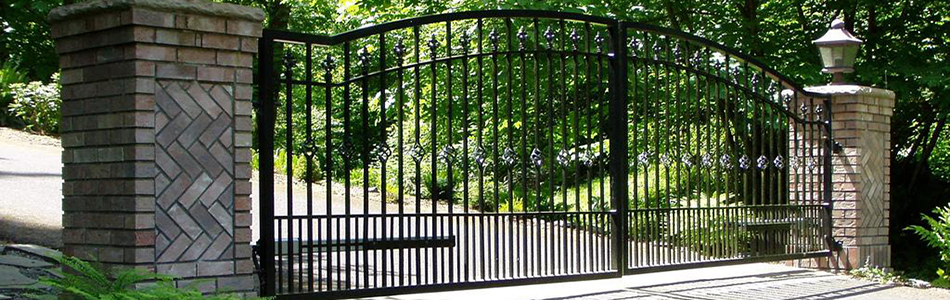 Black stainless steel automatic gates