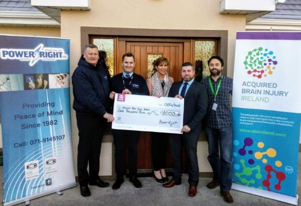 Power Right Staff fund raise for the Acquired Brain Injury Ireland